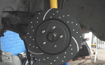 Disc of car brakes with no wheel